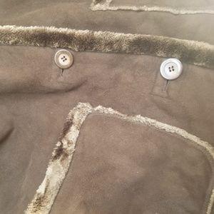 St. John's Bay Jackets & Coats - St John's Bay Brown Faux Suede Shearling Coat sz L